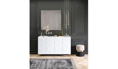Leonique Kommode »Caren«, mit dekorativen Fräsungen, Push-to-open Funktion, Breite 137 cm kaufen