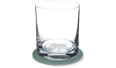 Contento Whiskyglas, (Set, 4 tlg., 2 Whiskygläser und 2 Untersetzer), Palme, 400 ml, 2... kaufen
