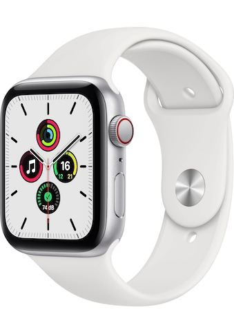 Apple Watch »SE GPS + Cellular, Aluminiumgehäuse mit Sportarmband 44mm«, (inkl.... kaufen