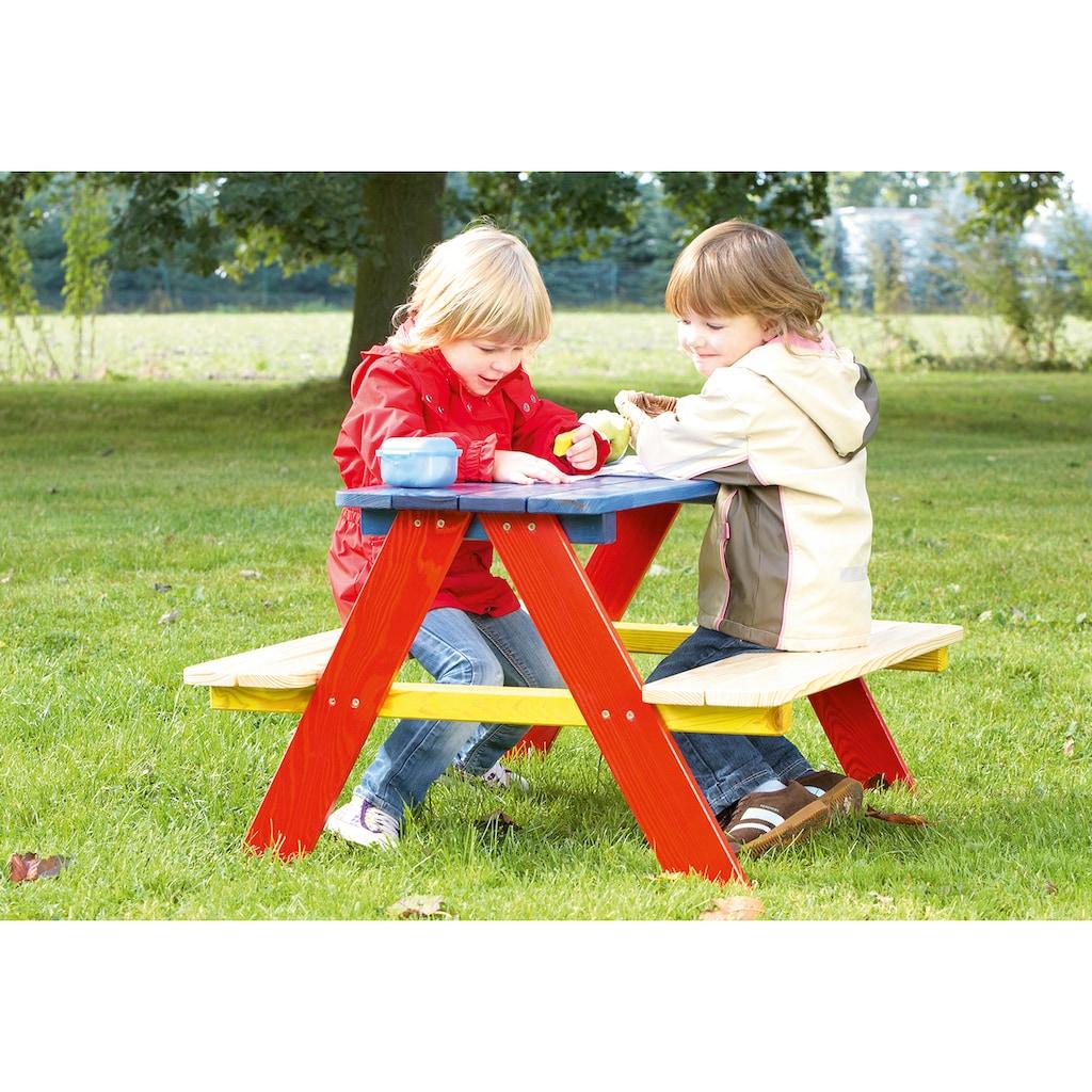 Pinolino® Kindersitzgruppe »Nicki«, Picknicktisch, BxHxT: 90x79x50 cm