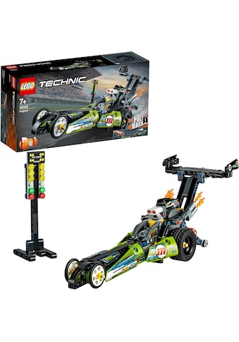 LEGO® Konstruktionsspielsteine »Dragster Rennauto (42103), LEGO® Technic«, (225 St.) kaufen