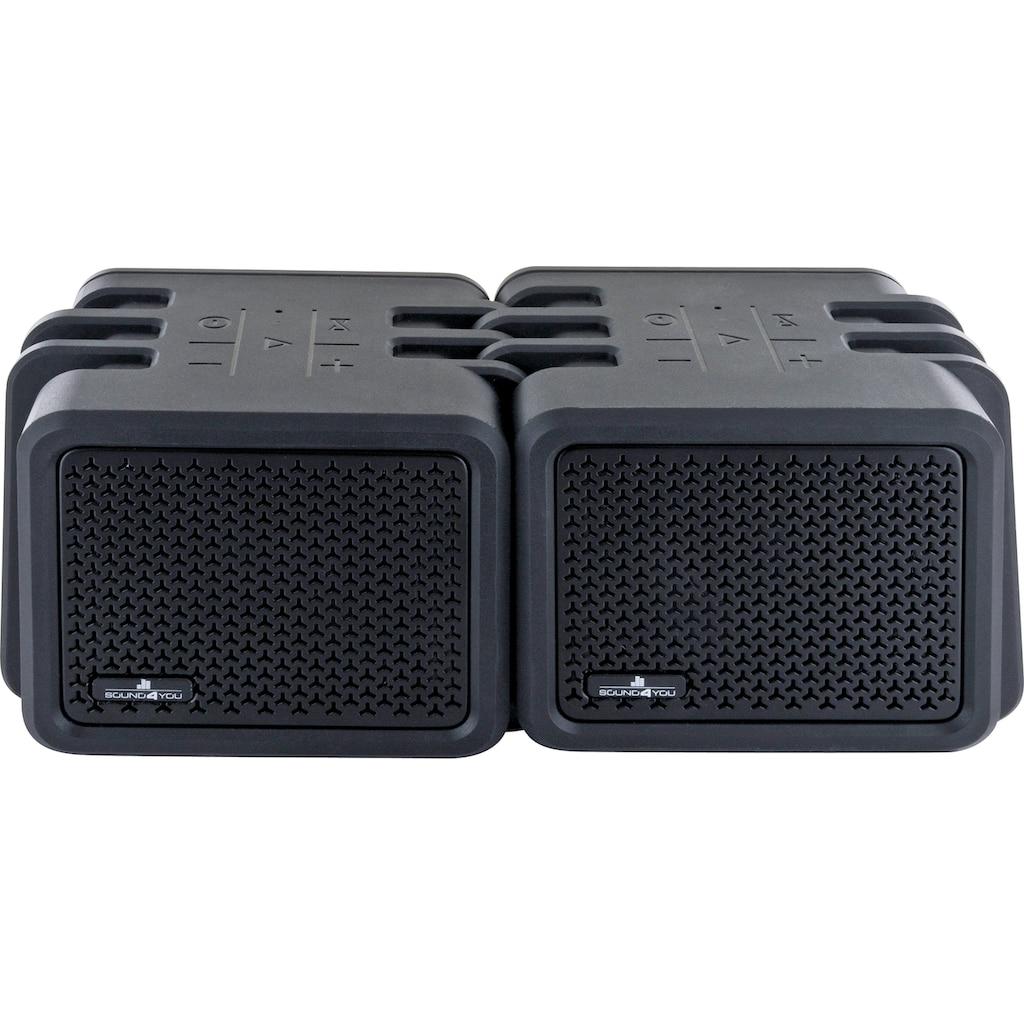 Schwaiger Bluetooth Lautsprecher wasserdicht, Outdoor Twin Speaker