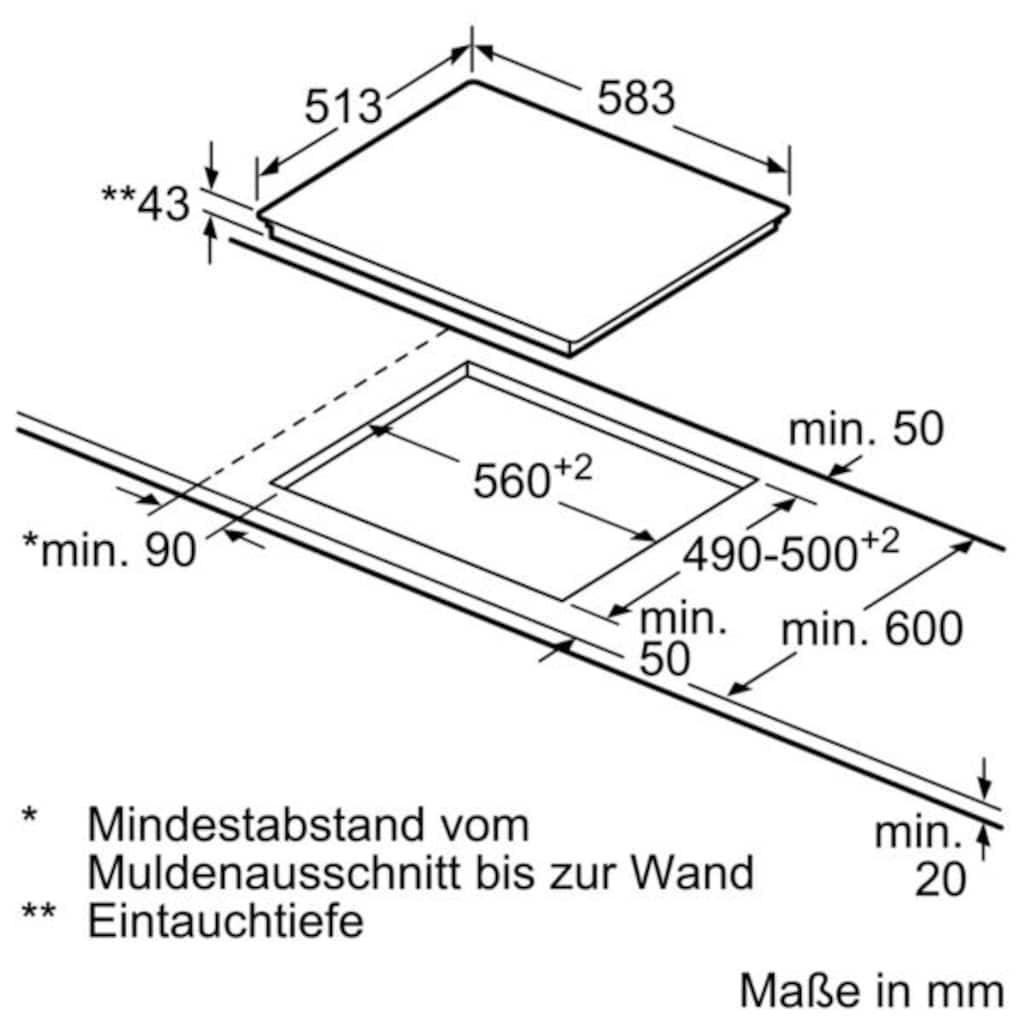 SIEMENS Elektro-Herd-Set »EQ211KA00«, mit 3D-Heißluft