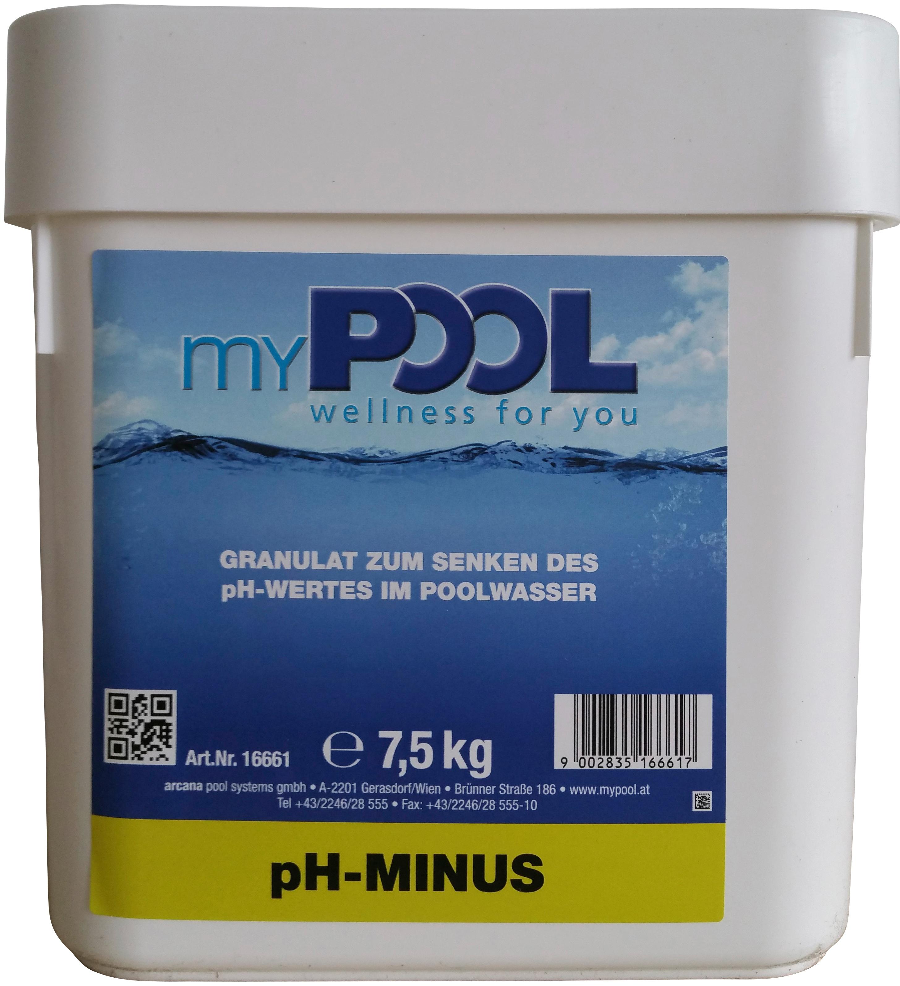 MYPOOL Poolpflege »pH-minus«, 7,5 kg | Garten > Swimmingpools > Poolpflege | Weiß | MYPOOL