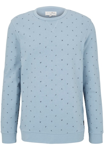TOM TAILOR Denim Sweatshirt, mit dezentem Muster kaufen