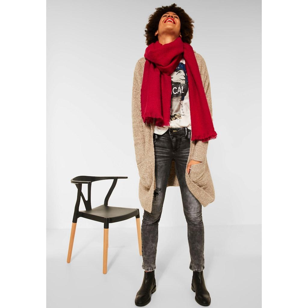 STREET ONE Modeschal, Softer Schal in Unifarbe