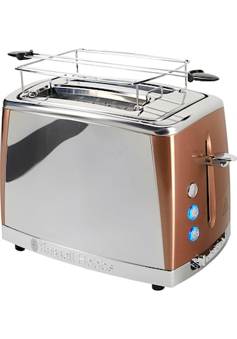 RUSSELL HOBBS Toaster »Luna Copper Accents 24290-56«, 2 lange Schlitze, für 2 Scheiben, 1550 W kaufen