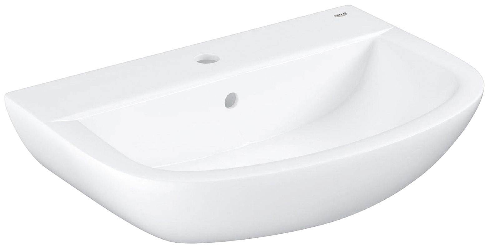 GROHE Waschbecken »Bau Keramik«, 55 cm in weiß, halbrund