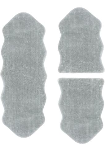 Andiamo Bettumrandung »Lamm Fellimitat«, fellförmig, Bettvorleger, Läufer-Set für das Schlafzimmer, Kunstfell, gewebt, besonders weich durch Microfaser kaufen