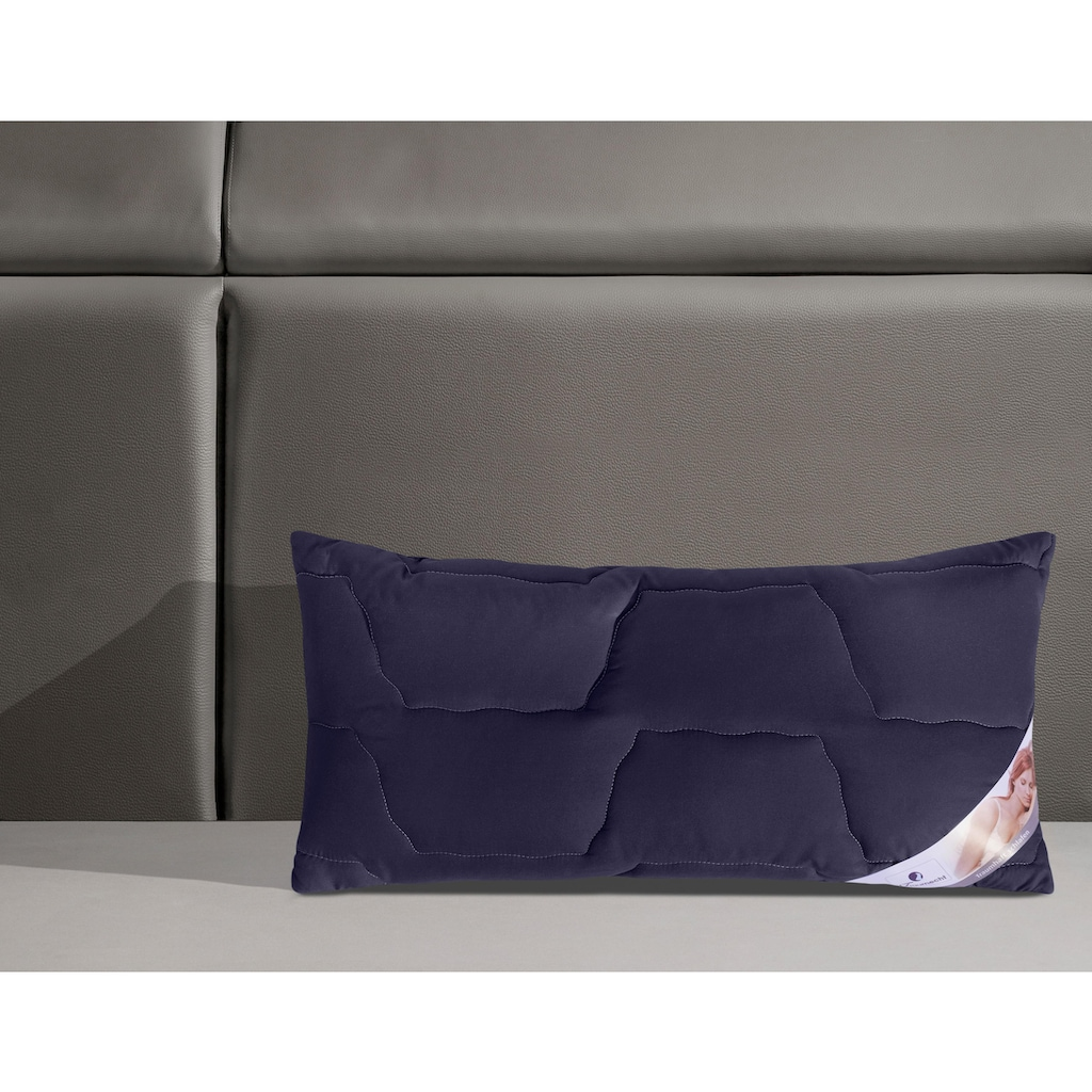 Traumecht Microfaserkissen »Microlux«, Füllung: Polyester, Bezug: Polyestergewebe, (1 St.), mit stützenden Faserbällchen, waschbar bis 60° Grad