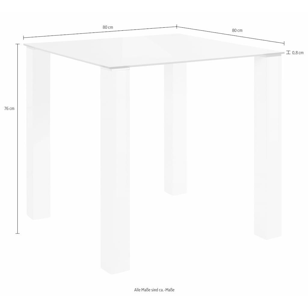 my home Essgruppe, (Set, 5 tlg.), mit Glastisch, Breite 80 cm