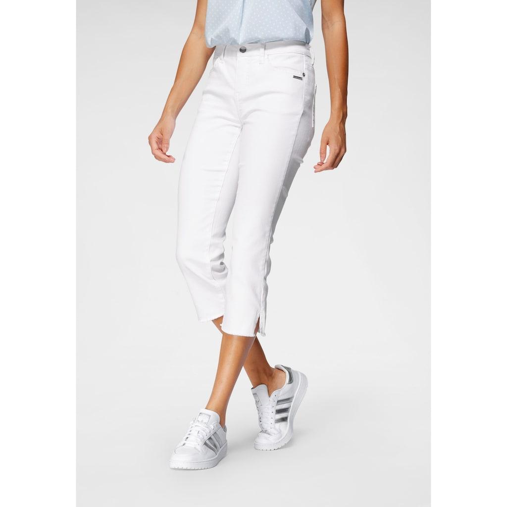 Bruno Banani 3/4-Jeans, Mit Fransensaum