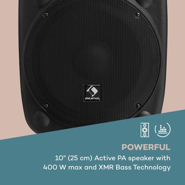 """Auna Aktiver PA Lautsprecher 10"""" 400 W max. USB- und SD-Ports MP3 »SLK-10«"""