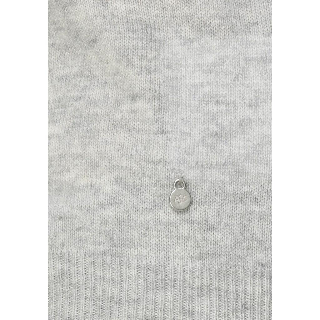 AJC Rundhalspullover, mit Zierknöpfen aus hochwertiger reiner Merino-Wolle