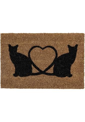 Andiamo Fußmatte »Kokos Katzen«, rechteckig, 17 mm Höhe, Schmutzfangmatte, In- und... kaufen