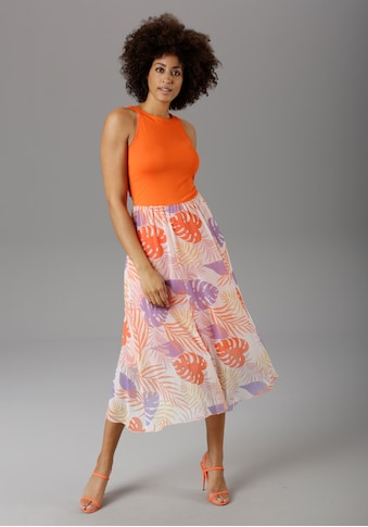 Aniston SELECTED Sommerkleid, in modischer Knallfarbe - NEUE KOLLEKTION kaufen