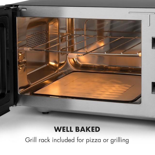 Klarstein Mikrowelle 900W 25l 6 Leistungsstufen Grill silber »Brilliance Roomy«