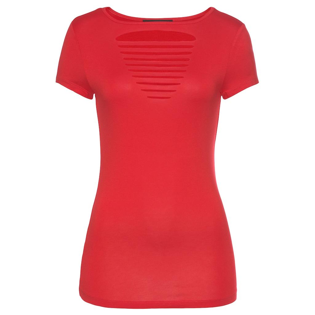 Melrose T-Shirt, mit modischen Schlitzen