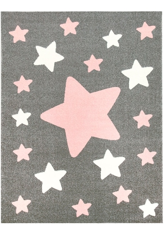 Lüttenhütt Teppich »Caprova 10«, rechteckig, 14 mm Höhe, mit Stern Motiv, Pastell-Farben kaufen