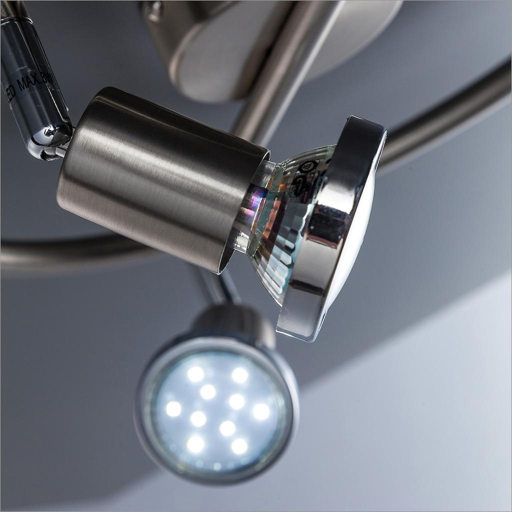 B.K.Licht LED Deckenspots »Mika 3«, GU10, Warmweiß, LED Deckenleuchte schwenkbar GU10 Spots Deckenlampe Wohnzimmer Schlafzimmer Küche