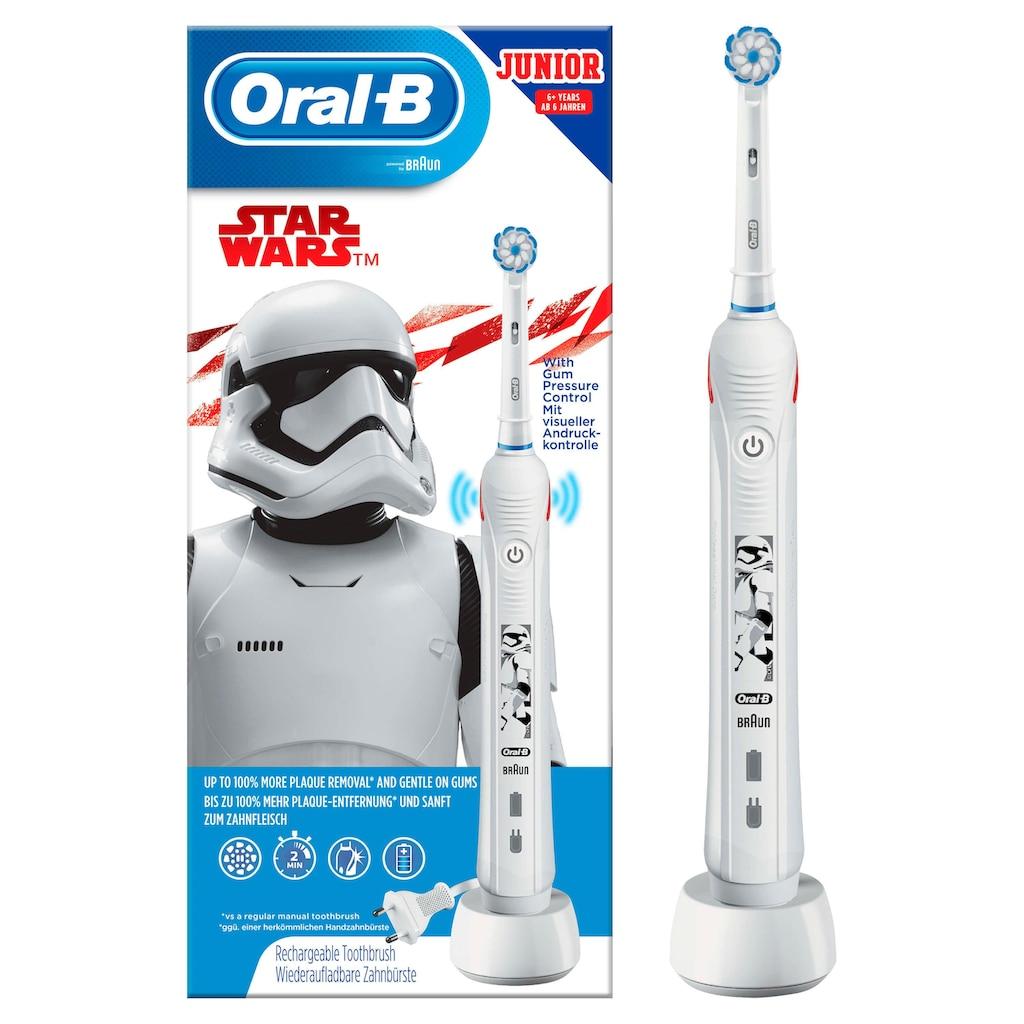 Oral B Elektrische Kinderzahnbürste »Junior Star Wars«, 1 St. Aufsteckbürsten
