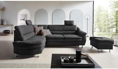 Places of Style Ecksofa »Cardoso«, Federkern, wahlweise mit Bett, Schubkasten kaufen