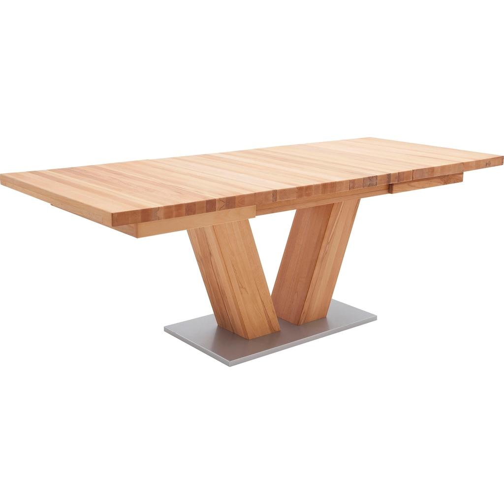 MCA furniture Esstisch »Managua A«, Esstisch Massivholz ausziehbar
