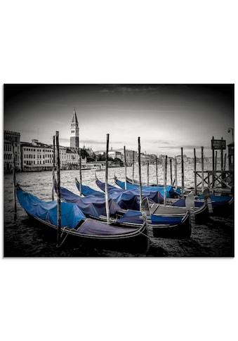 Artland Glasbild »Venedig Großer Kanal & Markusturm«, Boote & Schiffe, (1 St.) kaufen
