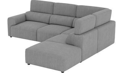 Home affaire Big-Sofa »Paul«, Sitzflächen adaptiv verstellbar, verstellbare... kaufen