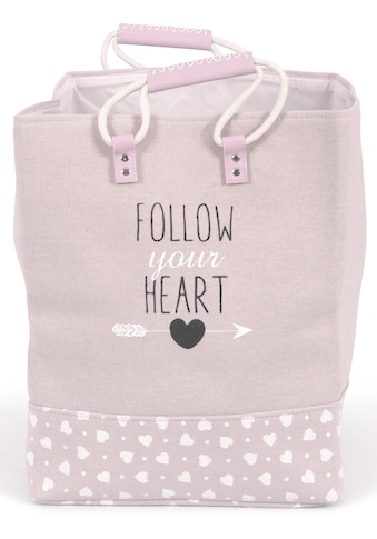 Franz Müller Flechtwaren Wäschebox »Follow your Heart«, quadratisch kaufen