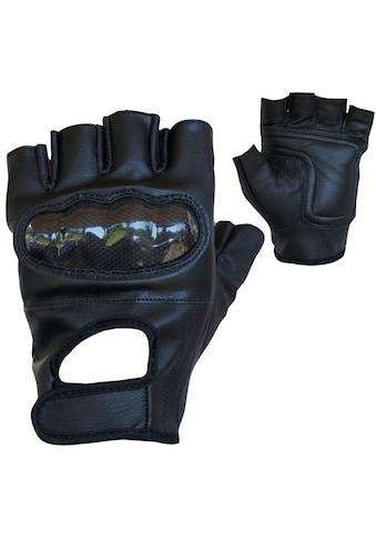 PROANTI Motorradhandschuhe, fingerlose Chopper-Handschuhe aus Leder mit Protektor kaufen