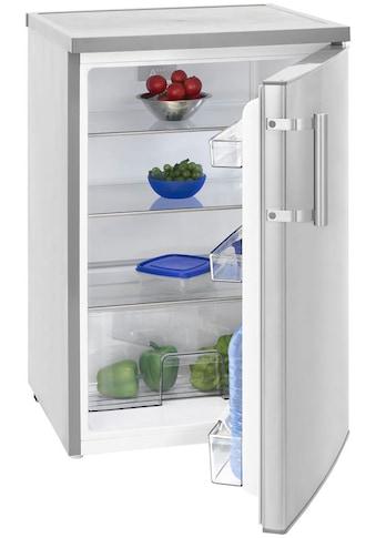 exquisit Kühlschrank »KS 16-1 RV A+++Inox look«, KS 16-1 RV A+++Inox look, 84,5 cm hoch, 56 cm breit, 84,5 cm hoch kaufen