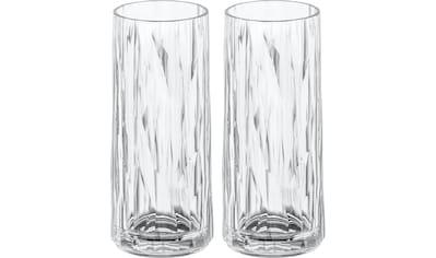 KOZIOL Longdrinkglas »CLUB No. 3«, (Set, 2 tlg., 2er Set), tolles Facettendesign,... kaufen