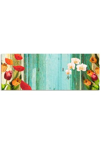 Artland Schlüsselbrett »Bunte Blumen«, aus Holz mit 4 Schlüsselhaken – Schlüsselboard,... kaufen