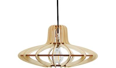 WODEWA Set: Pendelleuchte »Holzlampe Medusa«, Natur, LED, 1 - flammig kaufen