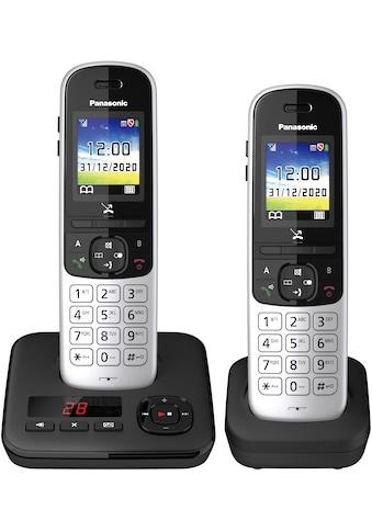Panasonic Schnurloses DECT-Telefon »KX-TGH722 Duo«, (Mobilteile: 2 ), mit Anrufbeantworter kaufen