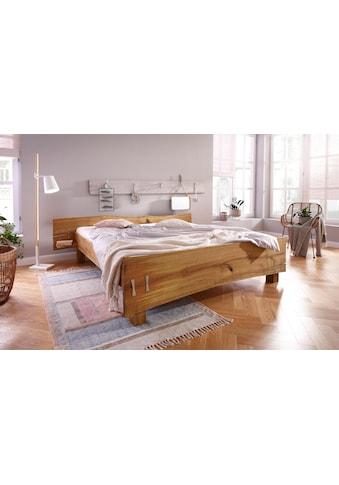Premium collection by Home affaire Futonbett »Slabs« (aus massiver Eiche mit integrierten Nachttischen) kaufen