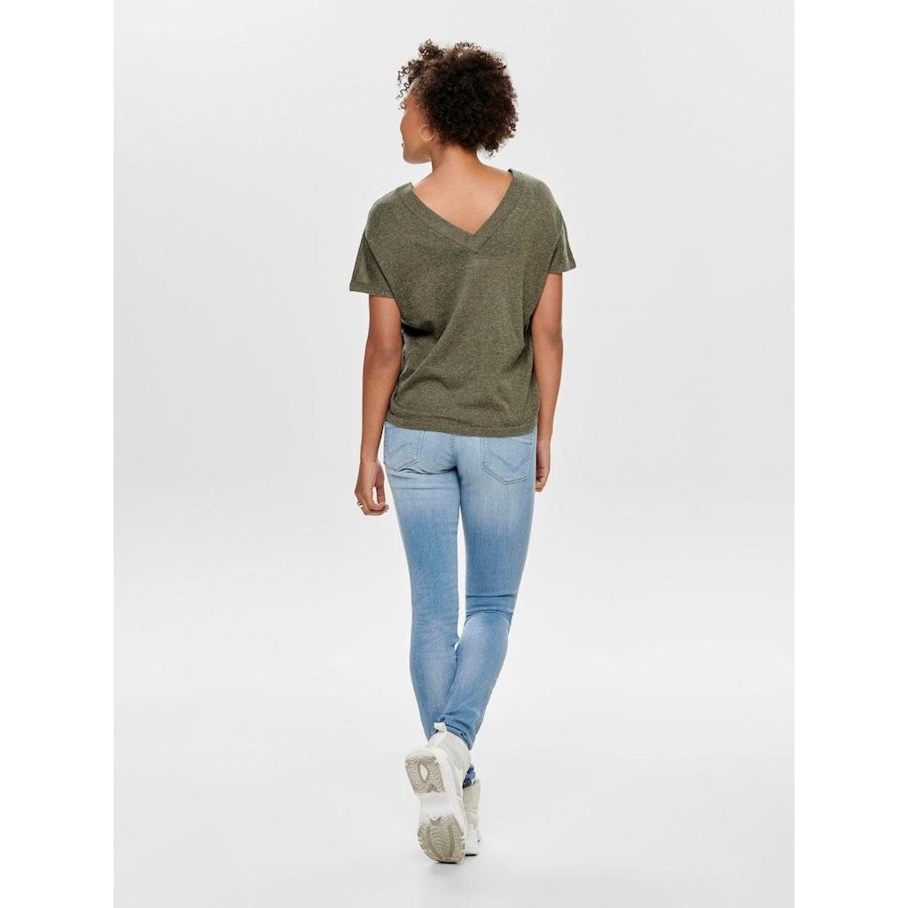 Only Skinny-fit-Jeans »ONLCORAL«, mit leichten Destroyed Effekten