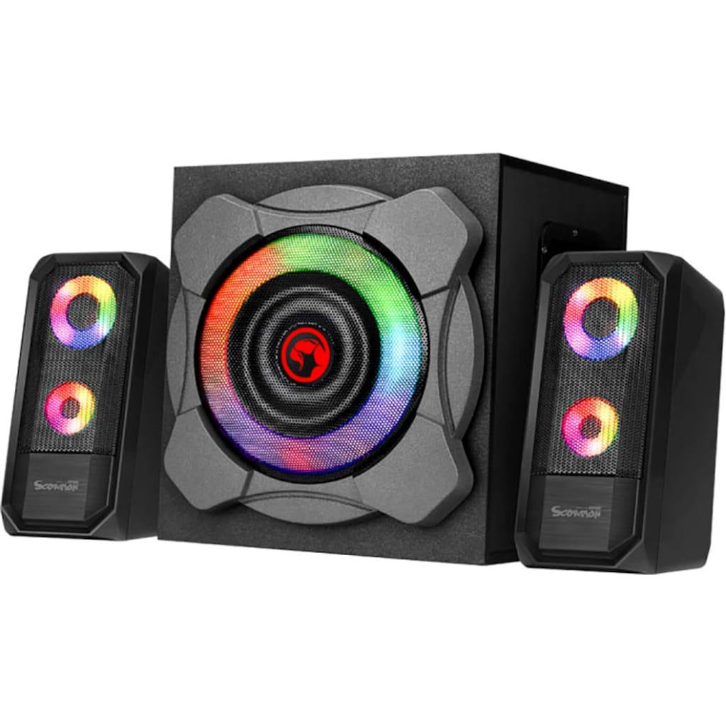 MARVO 2.1 Soundsystem »Bluetooth u. RGB LED«, SG-290BT