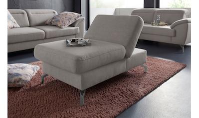 sit&more Hocker, Fußhöhe 15cm, mit Klappfunktion und Federkern, wahlweise in 2 unterschiedlichen Fußfarben kaufen