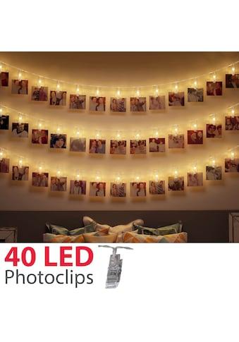 B.K.Licht LED-Lichterkette »Rana«, 40 St.-flammig, 5m LED Fotolichterkette Stimmungsbeleuchtung mit 40 Photo-Clips kaufen