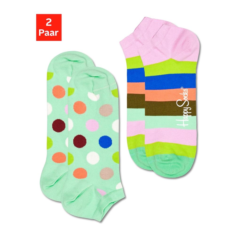 Happy Socks Sneakersocken »Big Dot«, (2 Paar), in trendigen Pastelltönen