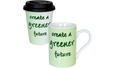 Könitz Becher »Eco - greener future«, (Set, 2 tlg., 1x Coffee to go Becher + 1x... kaufen