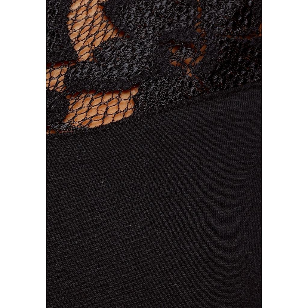 Laura Scott Spitzenshirt, mit Ärmeln aus Spitze