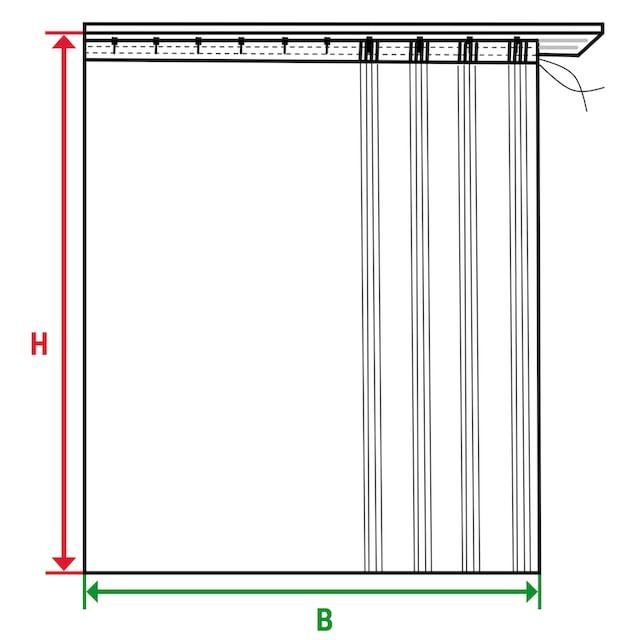 Vorhang, »Camberg«, Wirth, Faltenband 2 Stück