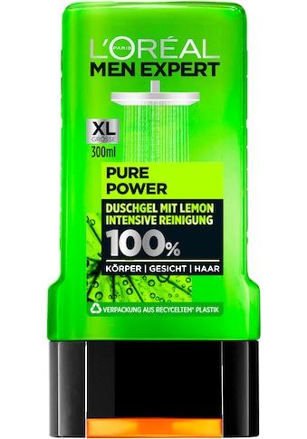 L'ORÉAL PARIS MEN EXPERT Duschgel »Pure Power Lemon«, entfernt Unreinheiten & Schweiß, regeneriert ohne auszutrocknen kaufen