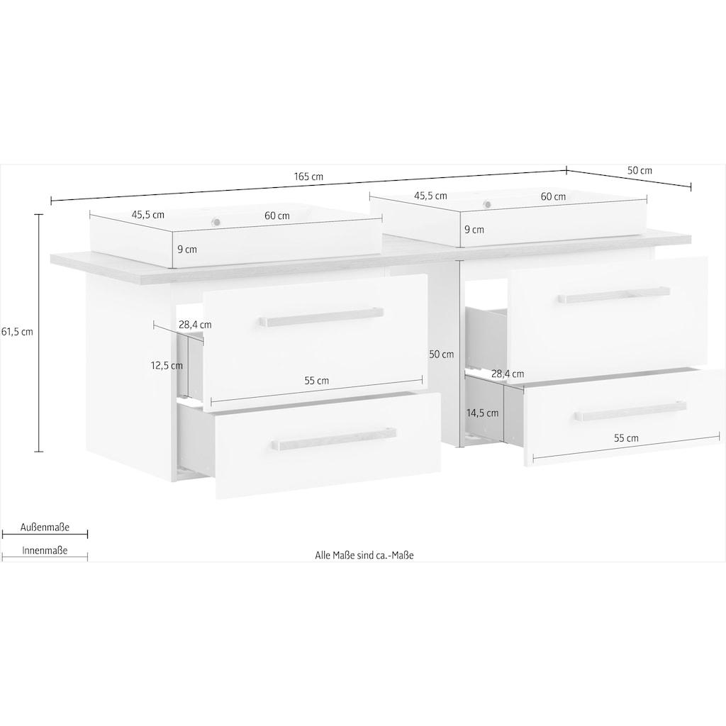 Schildmeyer Waschtisch »Duo«, 165 cm Breite