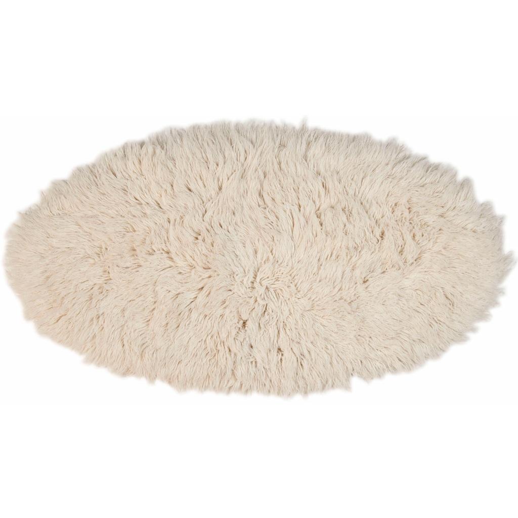 Theko Exklusiv Wollteppich »Flokos 2«, oval, 61 mm Höhe, handgewebt