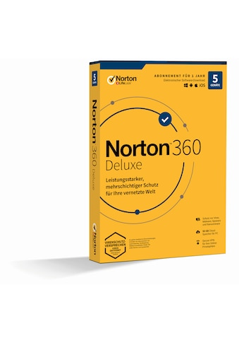 Norton Anwendungssoftware »5 Peripheriegeräte, 50 GB Onlinespeicher«, 360 Deluxe 1U 5D... kaufen