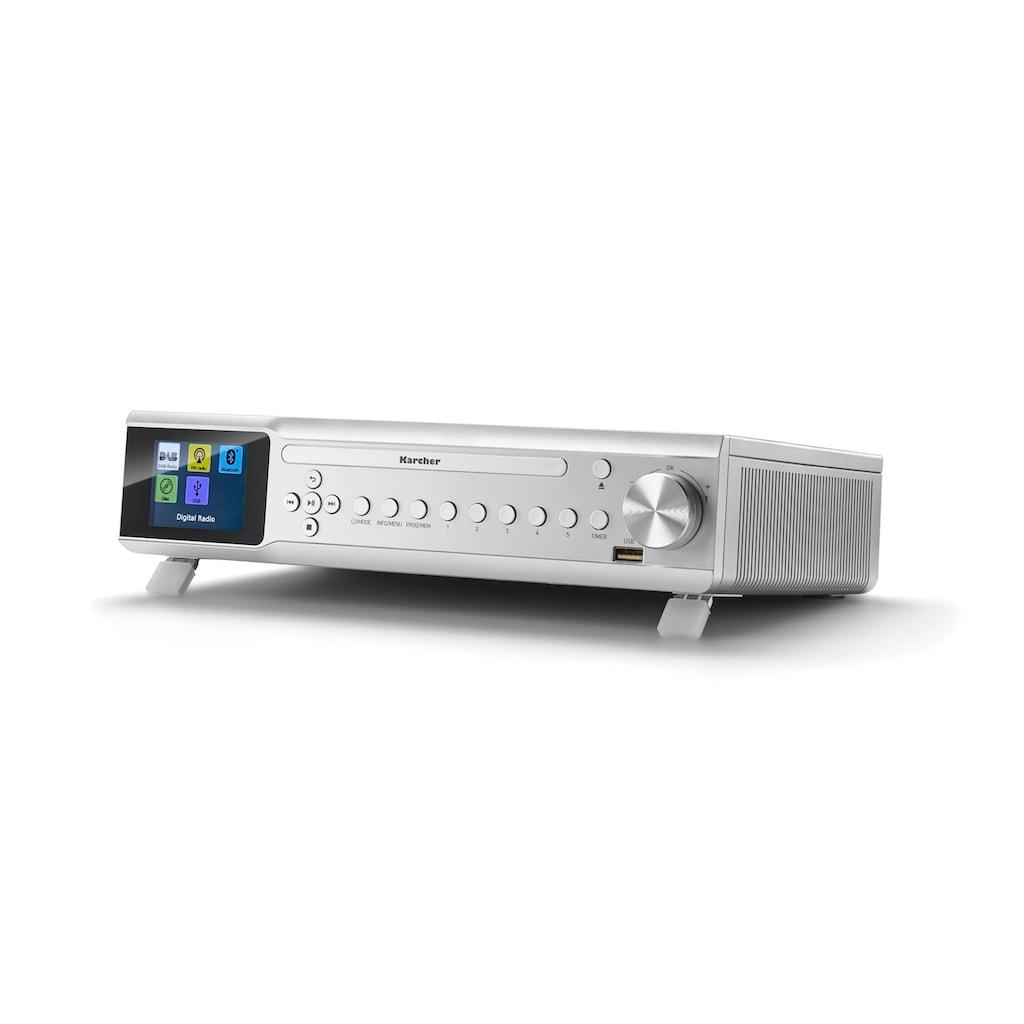 Karcher Küchen-Radio »RA 2060D-S«, (Bluetooth Digitalradio (DAB+)-UKW mit RDS 6 W)